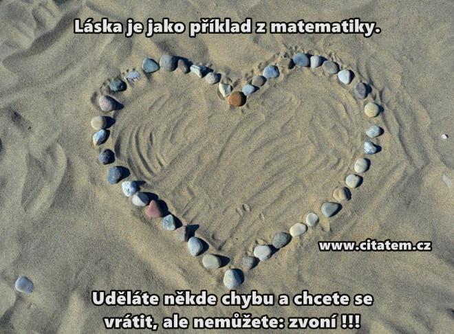 Láska je jako příklad z matematiky