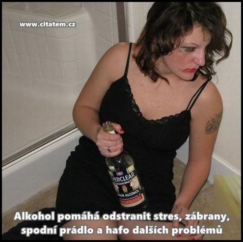 Alkohol pomáhá odstranit stres
