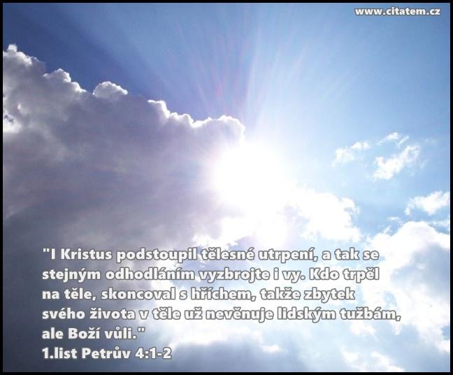 I Kristus podstoupil tělesné utrpení
