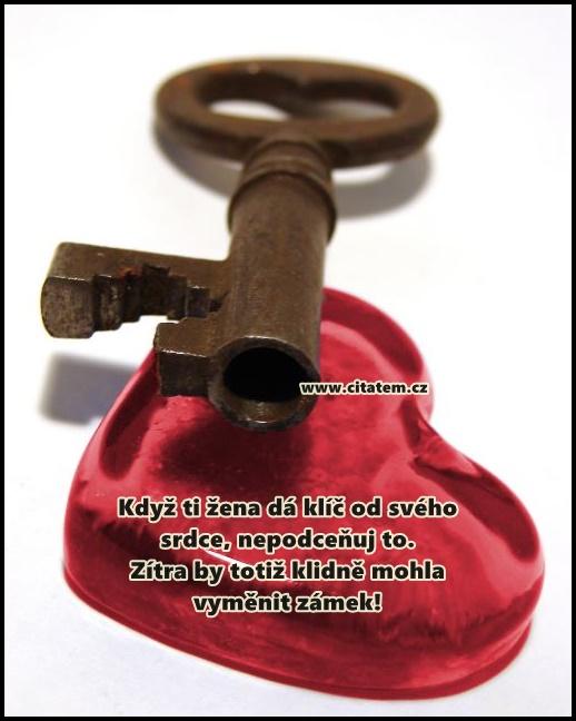 Když ti žena dá klíč od svého srdce