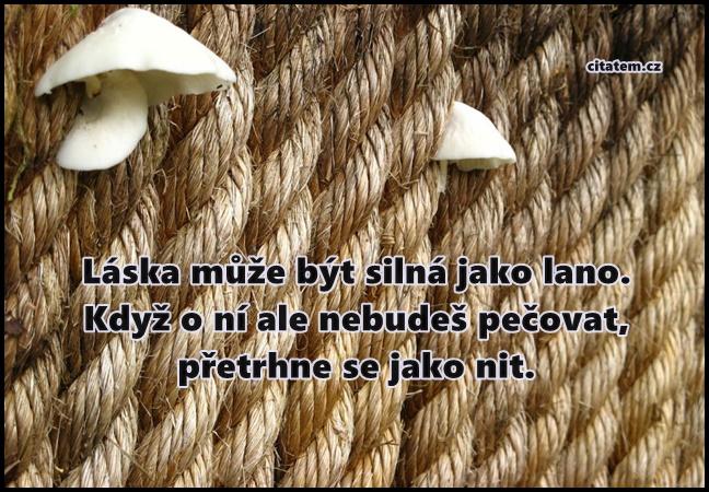 Láska může být silná jako lano