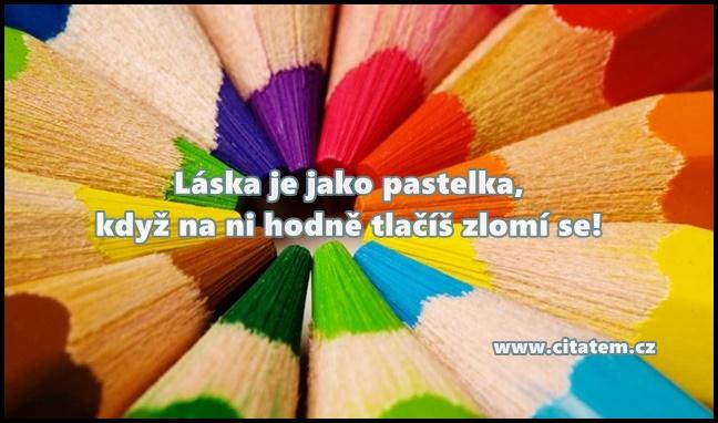 Láska je jako pastelka