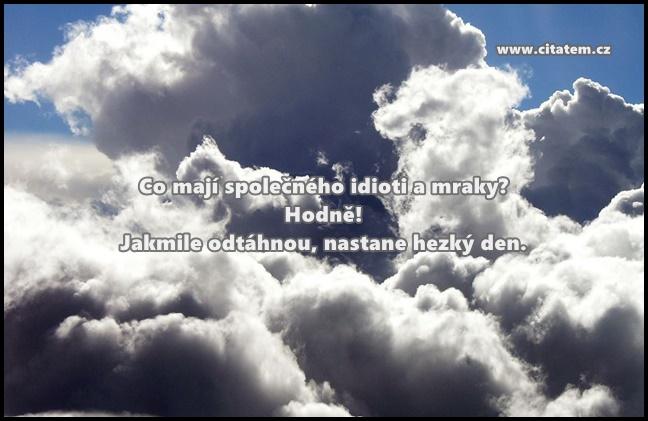 Co mají společného idioti a mraky?