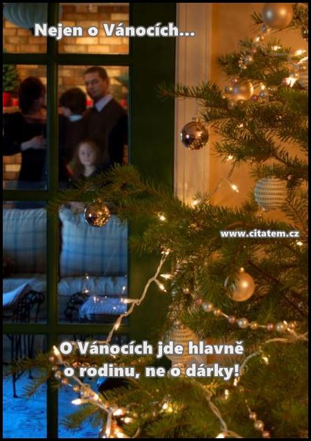 O Vánocích jde hlavně o rodinu, ne o dárky!