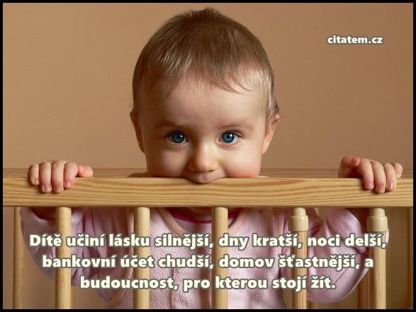 Dítě učiní lásku silnější